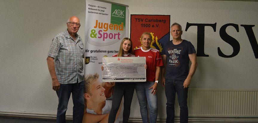 TSV Carlsberg mit AOK-Gesundheitspreis ausgezeichnet