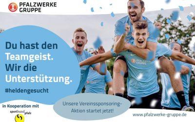 #heldengesucht – Pfalzwerke starten Aktion in Kooperation mit dem Sportbund Pfalz