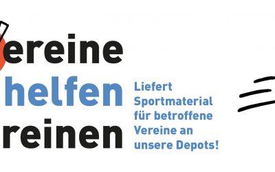 Vereine helfen Vereinen – Sportbund Pfalz ruft Vereine zu gemeinsamer Sportmaterial-Spendenaktion auf