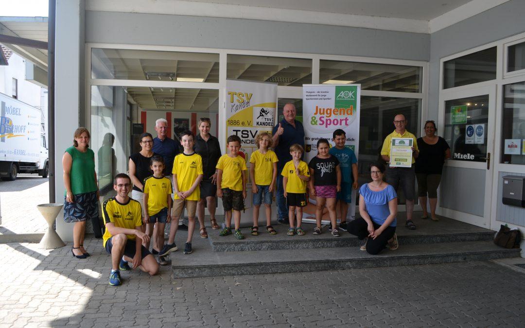 TSV Kandel mit AOK-Gesundheitspreis ausgezeichnet